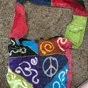 Colorful patch work bag